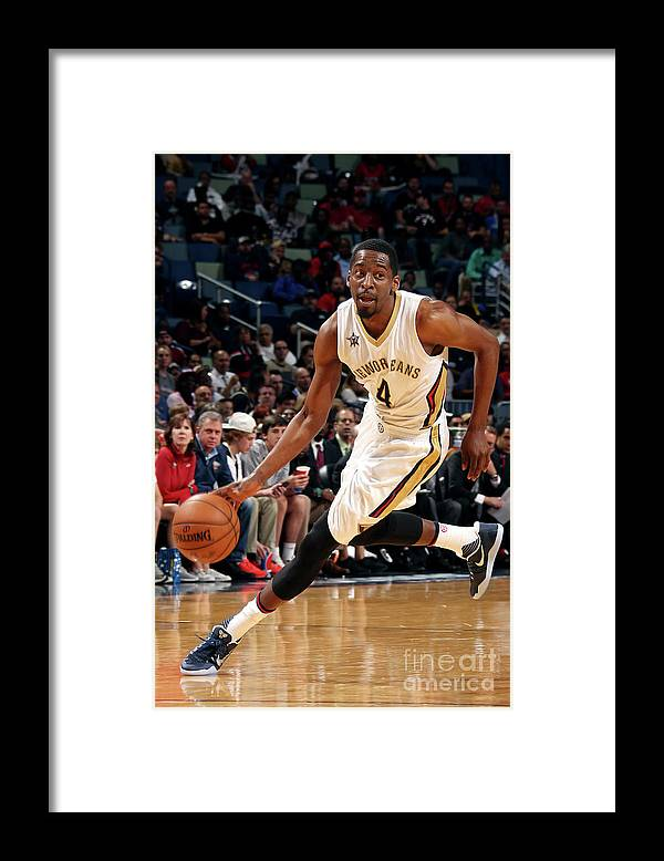 Smoothie King Center Framed Print featuring the photograph Jordan Crawford by Layne Murdoch