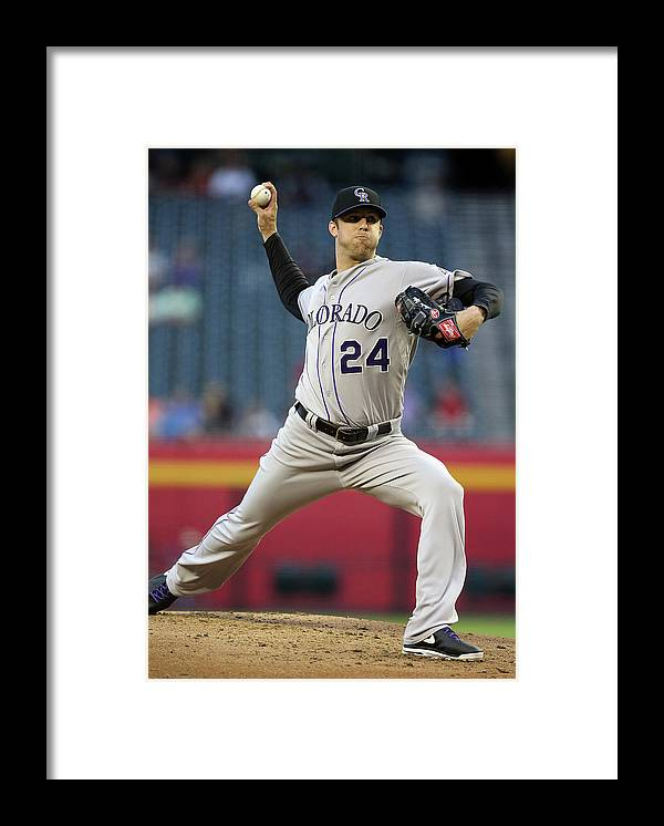 Baseball Pitcher Framed Print featuring the photograph Jordan Lyles by Christian Petersen