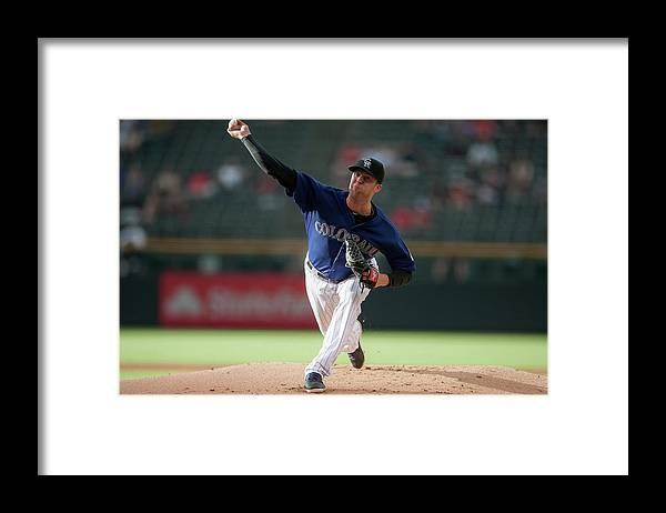 Baseball Pitcher Framed Print featuring the photograph Jordan Lyles by Dustin Bradford