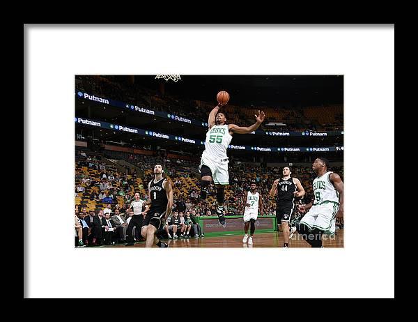 Nba Pro Basketball Framed Print featuring the photograph Jordan Mickey by Brian Babineau