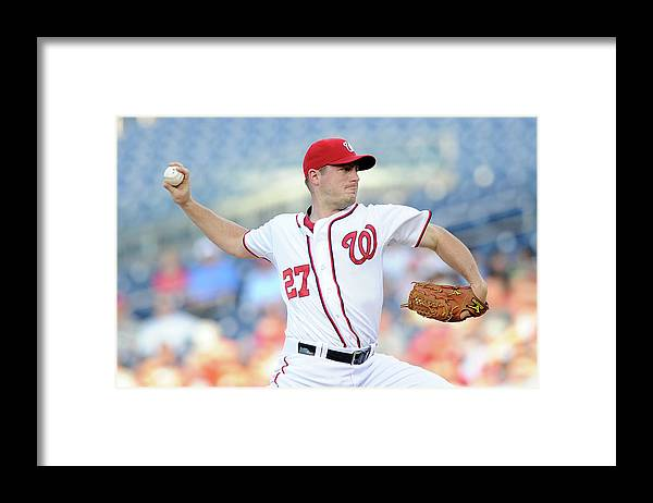 American League Baseball Framed Print featuring the photograph Jordan Zimmermann by Greg Fiume