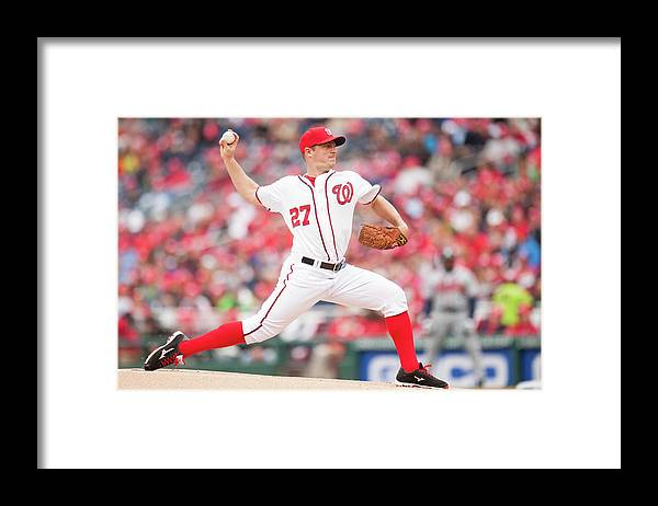 Baseball Pitcher Framed Print featuring the photograph Jordan Zimmermann by Mitchell Layton