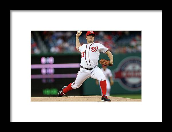 Working Framed Print featuring the photograph Jordan Zimmermann by Patrick Smith
