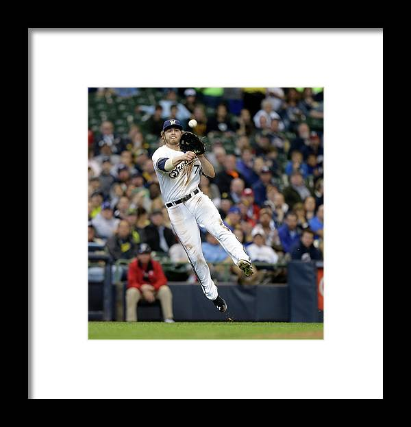 Ball Framed Print featuring the photograph Jordy Mercer and Mark Reynolds by Jeffrey Phelps