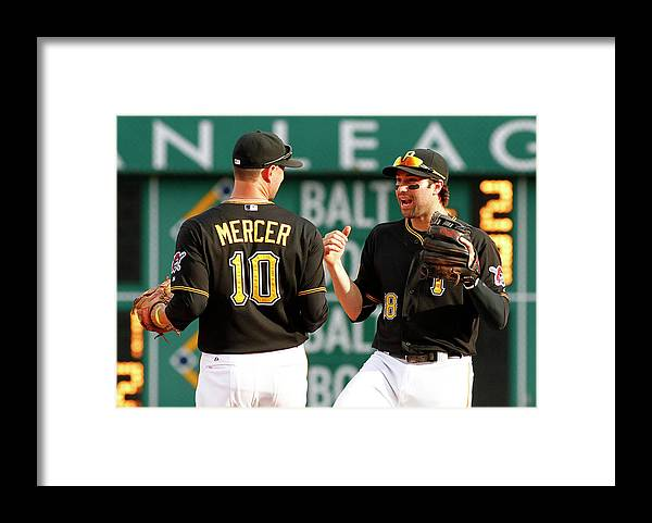 Professional Sport Framed Print featuring the photograph Jordy Mercer And Neil Walker by Justin K. Aller