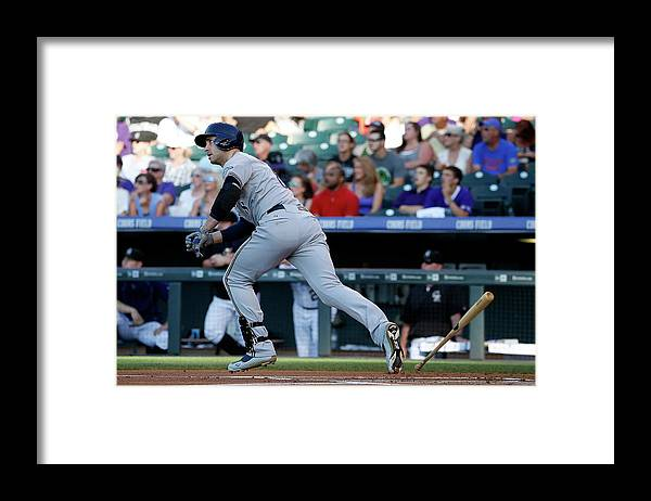 People Framed Print featuring the photograph Jorge De La Rosa and Ryan Braun by Doug Pensinger