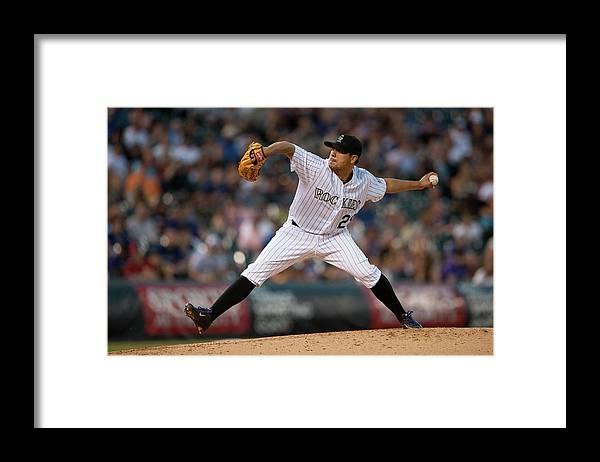 Jorge De La Rosa Framed Print featuring the photograph Jorge De La Rosa by Dustin Bradford