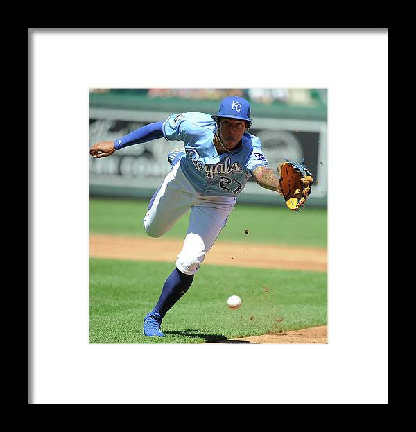 Second Inning Framed Print featuring the photograph Jorge Polanco and Raul Mondesi by Ed Zurga