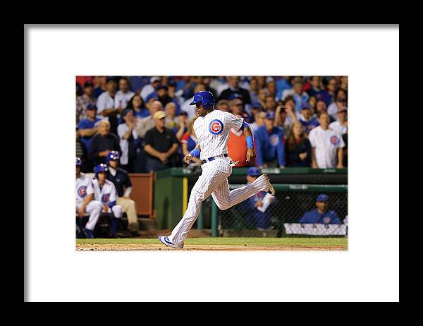 People Framed Print featuring the photograph Jorge Soler, Kyle Schwarber, and Steven Matz by Elsa