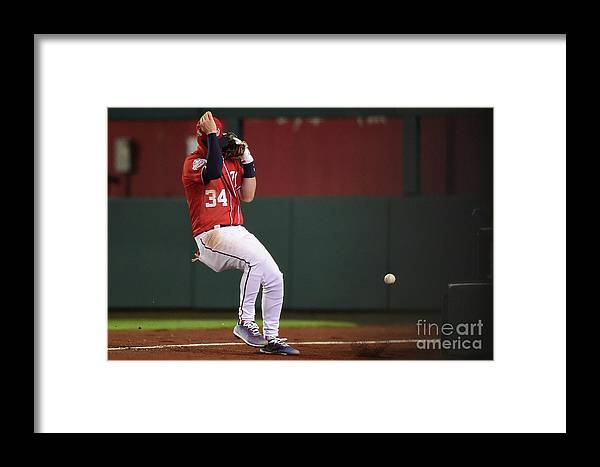 People Framed Print featuring the photograph Jose Reyes And Bryce Harper by Patrick Mcdermott