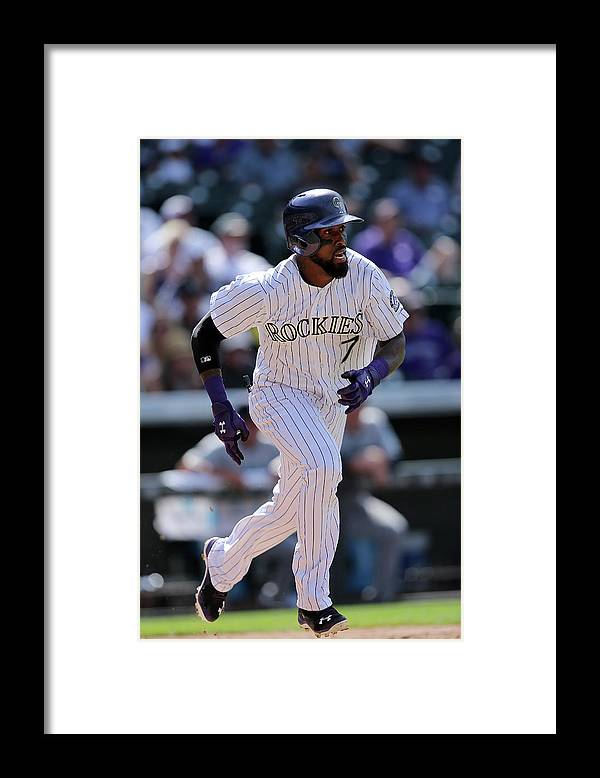 People Framed Print featuring the photograph Jose Reyes by Doug Pensinger