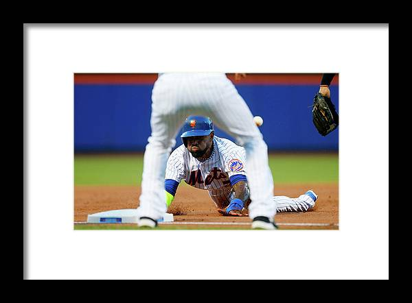 American League Baseball Framed Print featuring the photograph Jose Reyes by Jim Mcisaac