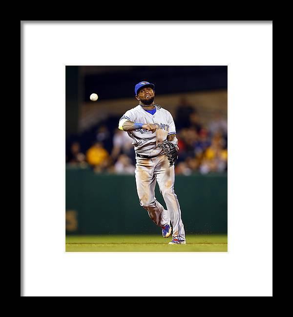 American League Baseball Framed Print featuring the photograph Jose Reyes by Matt Sullivan