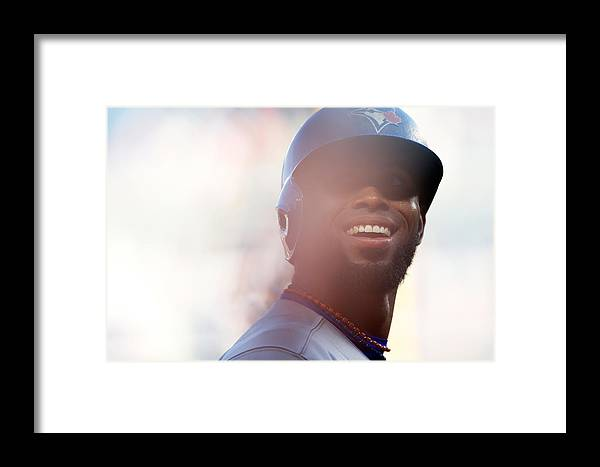 American League Baseball Framed Print featuring the photograph Jose Reyes by Mike Stobe