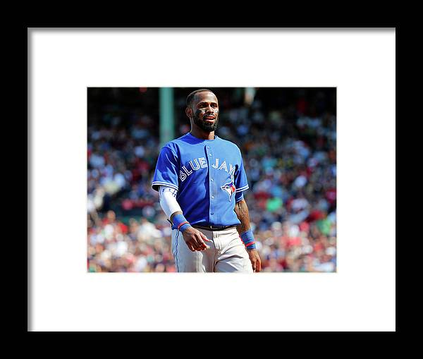 Three Quarter Length Framed Print featuring the photograph Jose Reyes by Winslow Townson