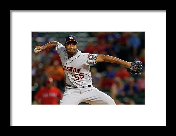 Ninth Inning Framed Print featuring the photograph Jose Veras by Tom Pennington