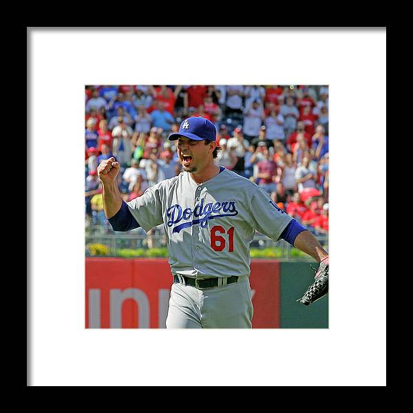 Ninth Inning Framed Print featuring the photograph Josh Beckett by Hunter Martin