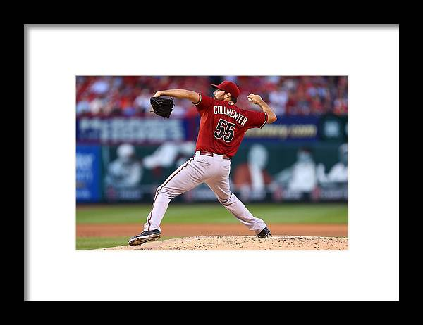 People Framed Print featuring the photograph Josh Collmenter by Dilip Vishwanat