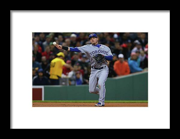 American League Baseball Framed Print featuring the photograph Josh Donaldson by Maddie Meyer