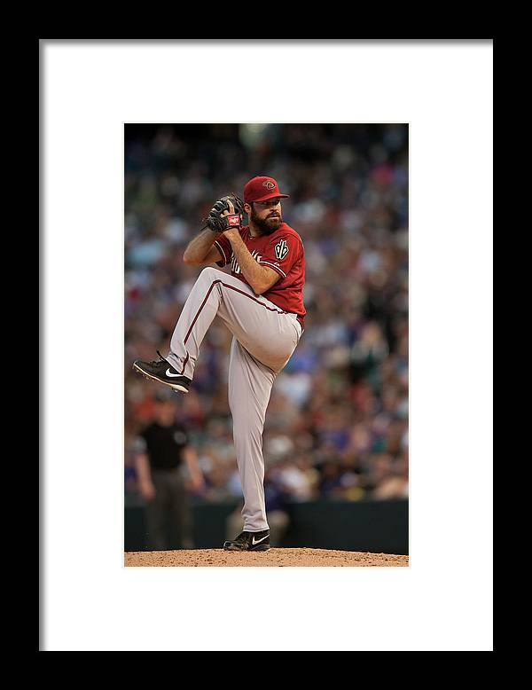 Baseball Pitcher Framed Print featuring the photograph Josh Fields by Dustin Bradford