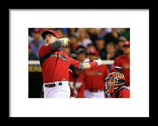 American League Baseball Framed Print featuring the photograph Josh Fields by Elsa