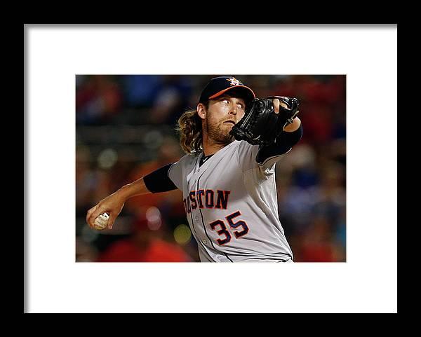 American League Baseball Framed Print featuring the photograph Josh Fields by Tom Pennington