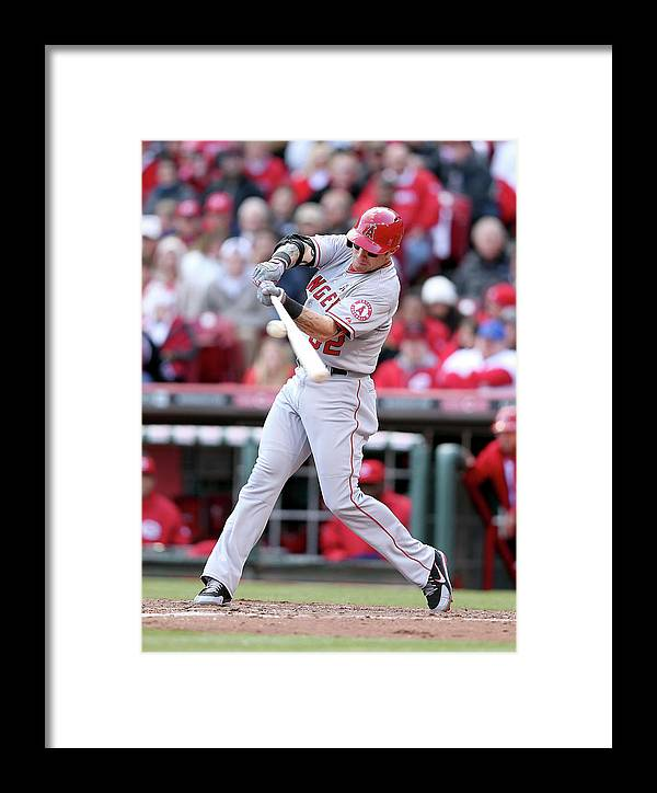 Great American Ball Park Framed Print featuring the photograph Josh Hamilton by Andy Lyons