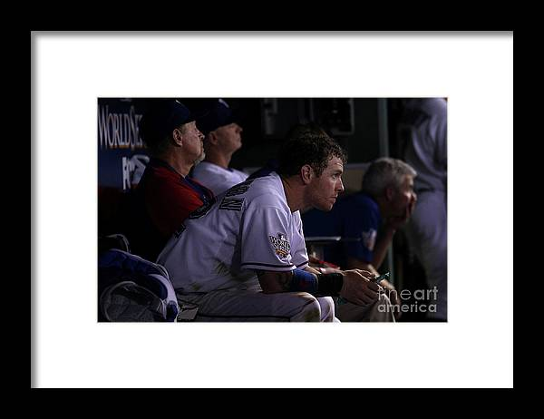American League Baseball Framed Print featuring the photograph Josh Hamilton by Christian Petersen