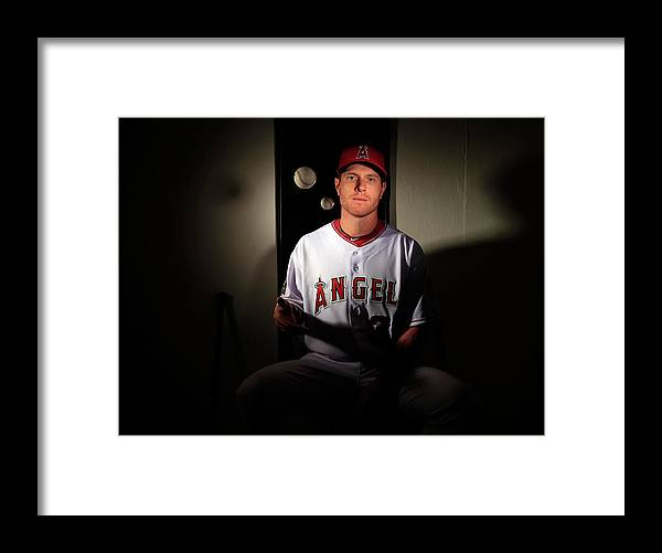 Media Day Framed Print featuring the photograph Josh Hamilton by Jamie Squire