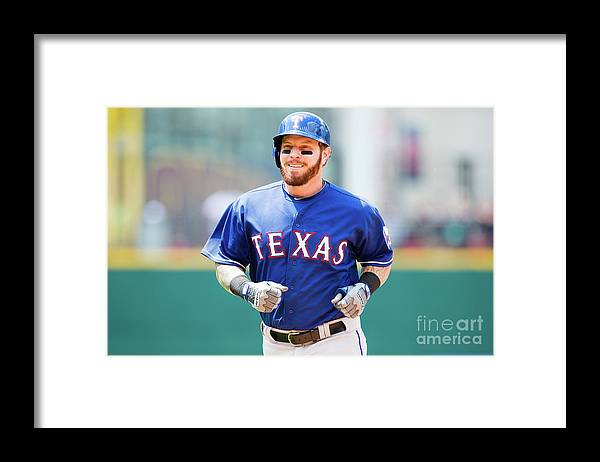 People Framed Print featuring the photograph Josh Hamilton by Jason Miller