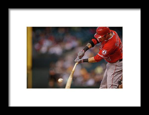 Second Inning Framed Print featuring the photograph Josh Hamilton by Otto Greule Jr