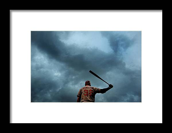 American League Baseball Framed Print featuring the photograph Josh Hamilton by Patrick Smith