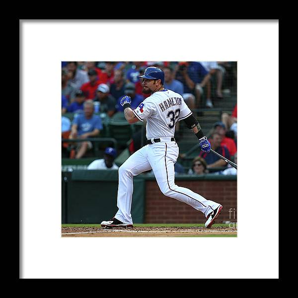 Second Inning Framed Print featuring the photograph Josh Hamilton by Sarah Crabill
