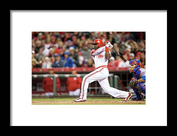 Great American Ball Park Framed Print featuring the photograph Josh Harrison and Brandon Phillips by Taylor Baucom