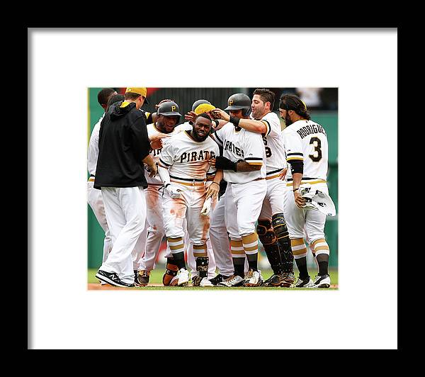 People Framed Print featuring the photograph Josh Harrison by Jared Wickerham