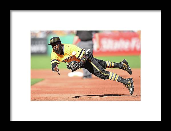 American League Baseball Framed Print featuring the photograph Josh Harrison by Joe Sargent