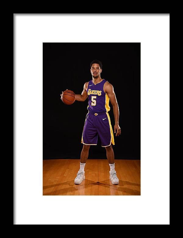 Nba Pro Basketball Framed Print featuring the photograph Josh Hart by Brian Babineau