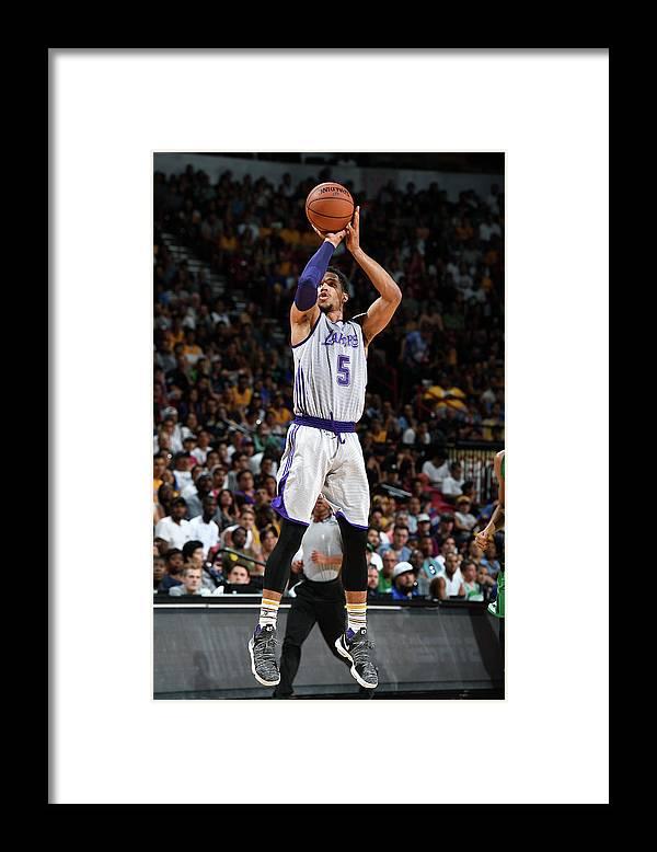 Nba Pro Basketball Framed Print featuring the photograph Josh Hart by Garrett Ellwood