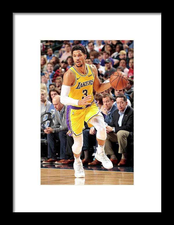 Nba Pro Basketball Framed Print featuring the photograph Josh Hart by Glenn James