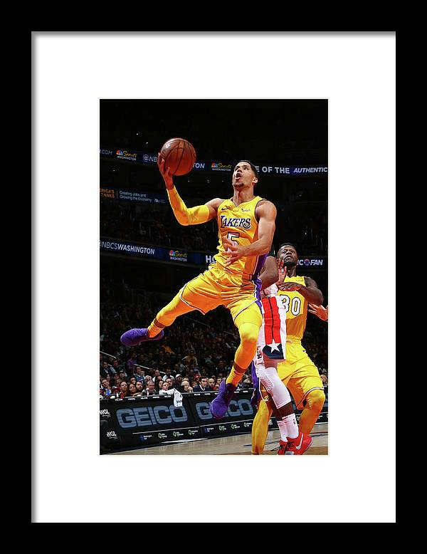Nba Pro Basketball Framed Print featuring the photograph Josh Hart by Ned Dishman