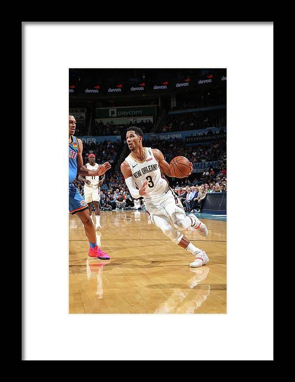 Nba Pro Basketball Framed Print featuring the photograph Josh Hart by Zach Beeker