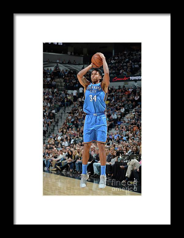 Nba Pro Basketball Framed Print featuring the photograph Josh Huestis by Mark Sobhani