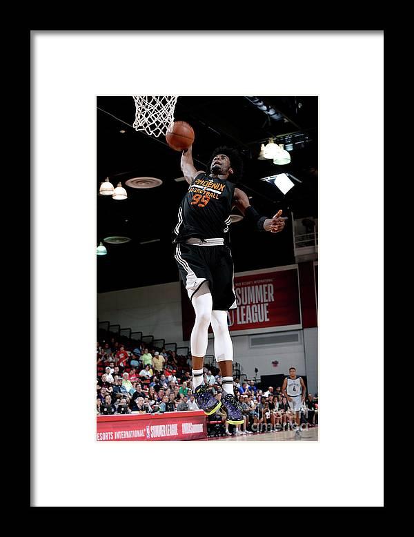 Nba Pro Basketball Framed Print featuring the photograph Josh Jackson by David Dow