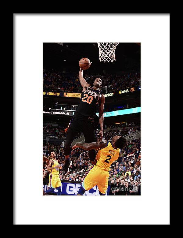 Sports Ball Framed Print featuring the photograph Josh Jackson by Michael Gonzales