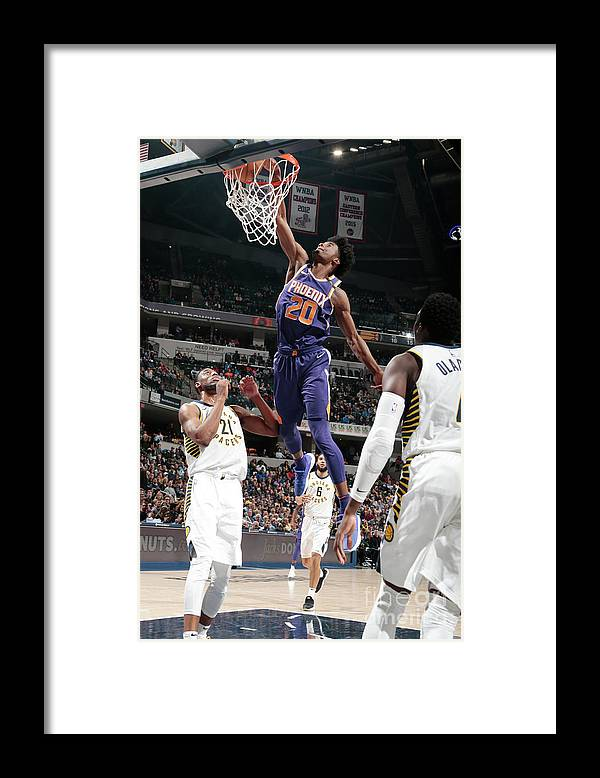 Nba Pro Basketball Framed Print featuring the photograph Josh Jackson by Ron Hoskins