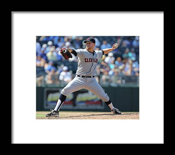 American League Baseball Framed Print featuring the photograph Josh Outman by Ed Zurga