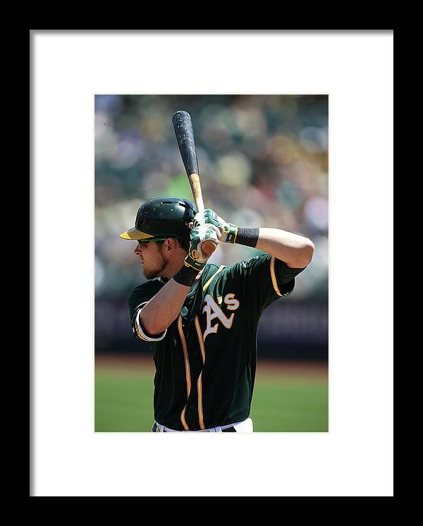 American League Baseball Framed Print featuring the photograph Josh Reddick by Brad Mangin