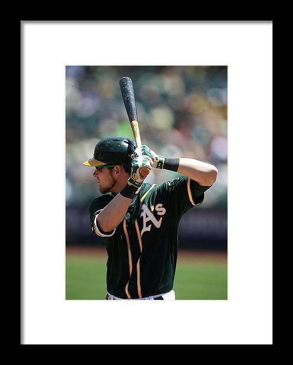 American League Baseball Framed Print featuring the photograph Josh Reddick by Brad Mangin