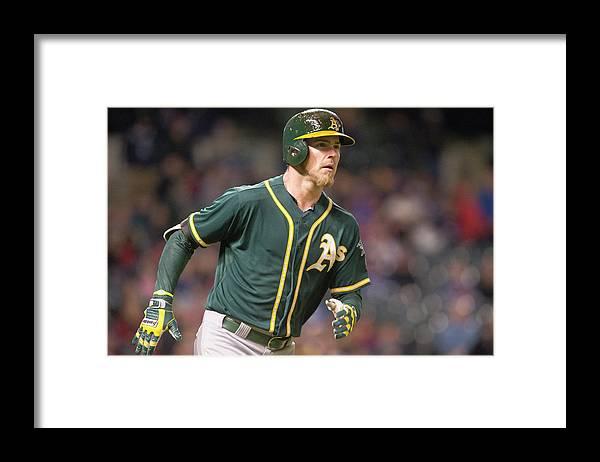 American League Baseball Framed Print featuring the photograph Josh Reddick by Jason Miller