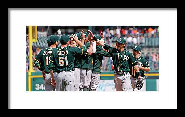 People Framed Print featuring the photograph Josh Reddick by Leon Halip